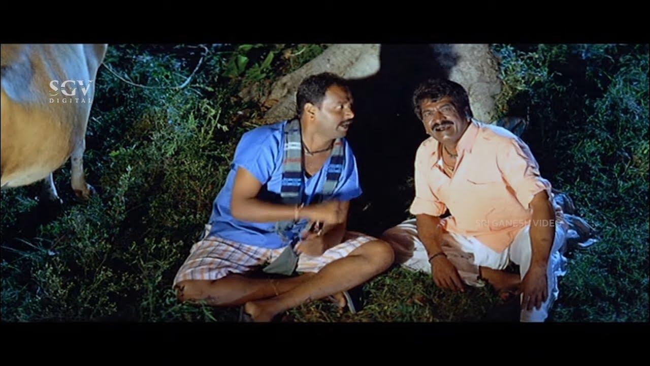 Sathyajith Takes Cow In Loan Comedy   PN Sathya   Saradara Kannada Movie   Kannada Comedy Scenes
