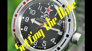 Vostok Amphibia - Setting the Date and Winding the Watch