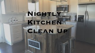 AFTER DINNER CLEAN UP | NIGHTLY KITCHEN CLEANING | CLEAN WITH ME
