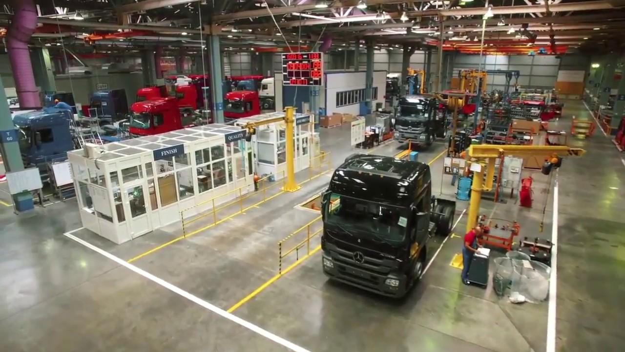 Сборочный завод грузовиков MercedesBenz и FUSO YouTube