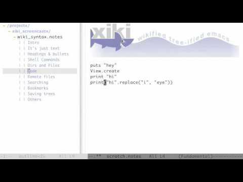 Xiki Screencast - Wiki Syntax