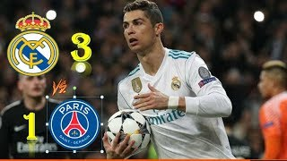 Real Madrid Vs PSG 3-1 Resumen Goles Highlights 14/02/18 Champions league