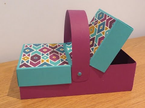 Double Flap Lid Picnic Box Tutorial Handmade With Stampin