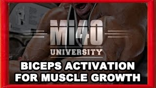 Ben Pakulski Biceps Muscle Training, Muscle Activation Bicep Muscle