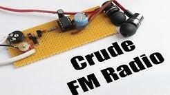 Build your own Crude FM Radio || FM,AM Tutorial