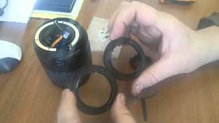 Nikon 18-105 mm ob'ektiv ta'mirlash (18-55 mm), tog'i o'rniga
