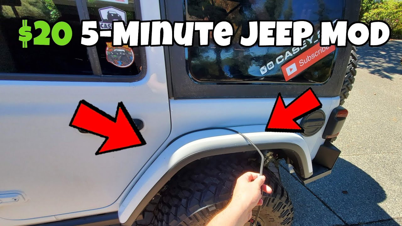 $20 EASY Mod to Fix this Annoying Problem on My Jeep !! - Fender Gap Fix on JL Wrangler