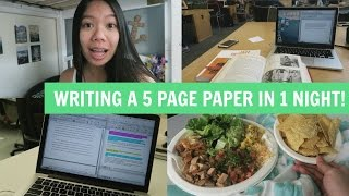 Writing a 5 Page Research Essay in 1 Night! (+ A Secret Grammar Trick)