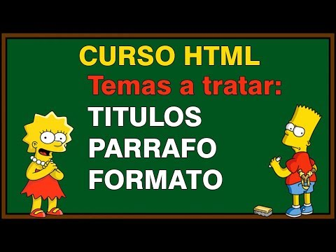 TUTORIAL DE FORMATO Y PARRAFO EN HTML thumbnail