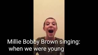STRANGER THINGS CAST SINGING! (THEY