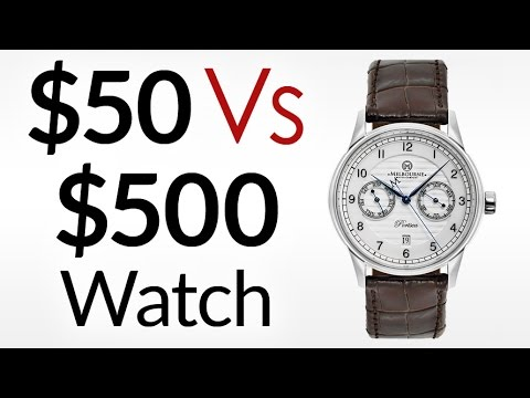 $50 Vs $500 Watch | What's The Difference? | Craftsmanship of Higher Vs Lower End Watches