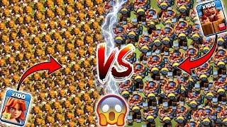 Max Valkyrie vs Max Battle Machine 🔥🔥 Clash of Clans Ultimate Battle | Battle Machine vs Valkyrie