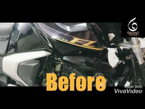 Yahmaha Fz Modified Paint Black and Golden Bike Customization and Restoration 