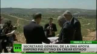 Ban Ki-Moon apoya la aspiración palestina de crear un estado propio