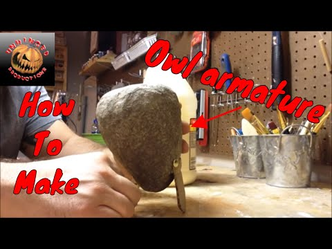 Making a paper mache owl part 1