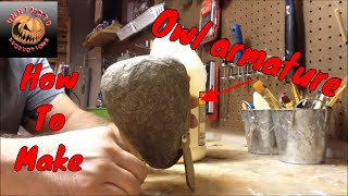 Making a paper mache owl part 1