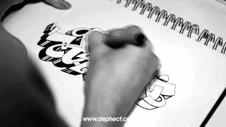 Drawing a graffiti outline - Kesh from Dephect