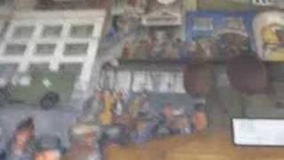 San Francisco: Coit Tower Murals - street scene, robbery
