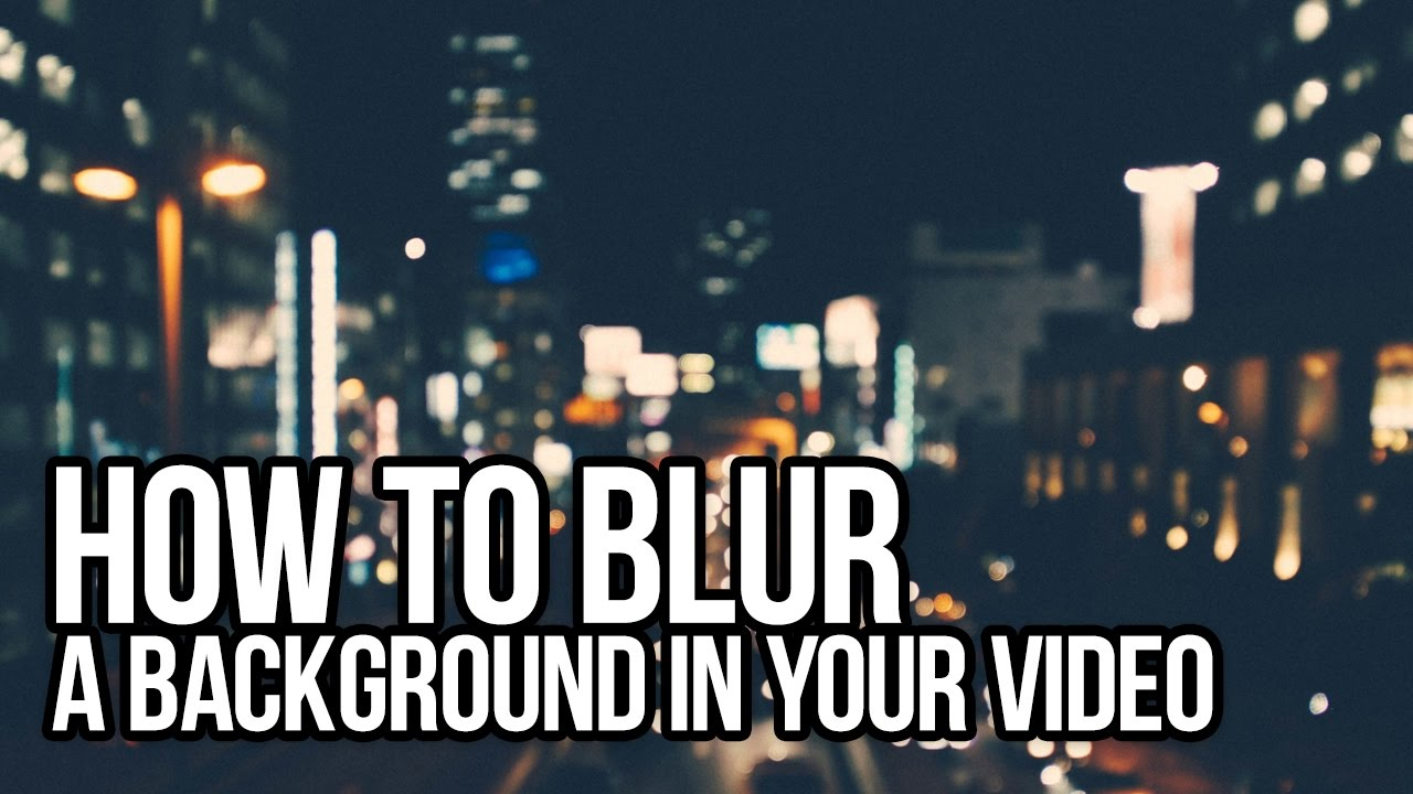 how to make gaussian blur move premiere pro