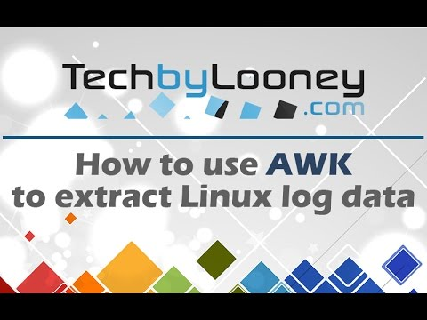 Use AWK To Extract & Format Linux Log File Output