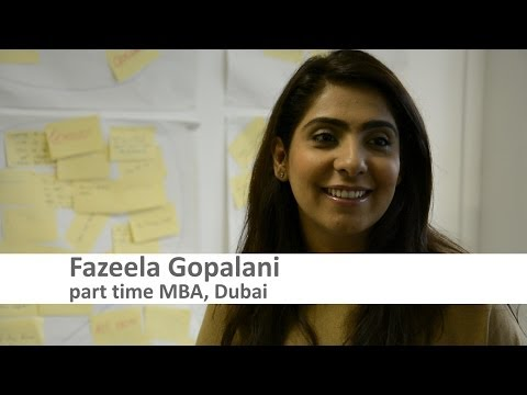 Part Time MBA student from Dubai, Fazeela Gopalani
