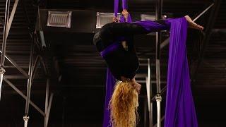 Jessica Sharp | Aerial Silks Performance | Living On A Prayer by Instrumental Champions