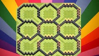 ● Clash Of Clans ● Town Hall Level 9 ● Circles Of Death ● Farming Base ●