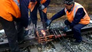 Aluminothermic welding (Алюминиевая сварка)(, 2015-02-21T23:08:01.000Z)