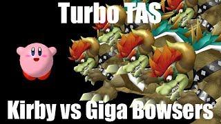 Turbo TAS: Kirby vs 5 Giga Bowsers
