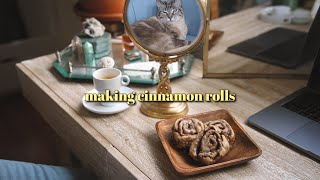 making cinnamon rolls (homemade)