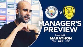 Pep Guardiola previews Man City v Burton Albion | PRESS CONFERENCE