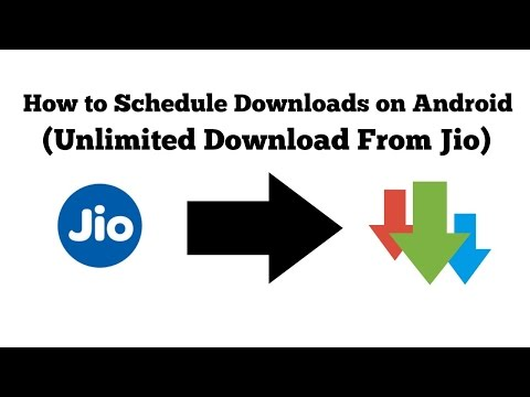 How To Schedule Downloads On Android (Unlimited Download From Jio)