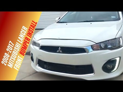2016-2017 Mitsubishi Lancer Front Bumper Install,  Video 3 of 3
