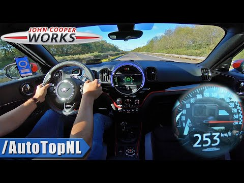 MINI COUNTRYMAN JCW 2020 306HP TOP SPEED On AUTOBAHN NO SPEED LIMIT By AutoTopNL