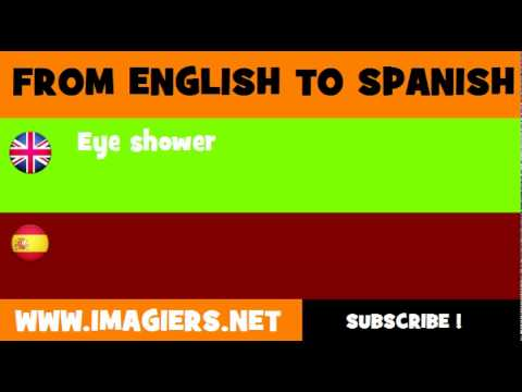 FROM ENGLISH TO SPANISH = Eye shower