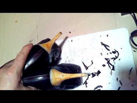 Как отремонтировать ободранный каблук