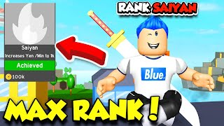 I Unlocked MAX SAIYAN RANK In Anime Fighting Simulator And Became The Strongest EVER! (Roblox)