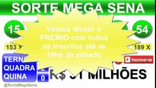 PALPITE MEGA SENA - 1737 - 29/08/2015 - sábado - RESULTADO