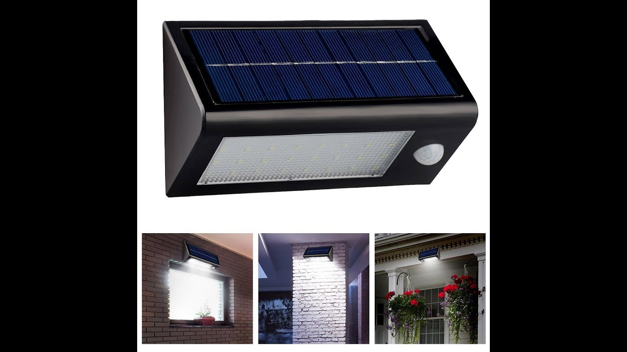 InnoGear  Solar Powered Outdoor Motion Sensor Light   YouTube. Exterior Motion Detector Led Lights. Home Design Ideas