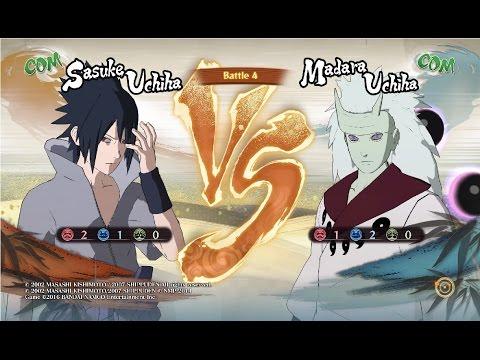Sasuke Rinnegan vs Madara Uchiha Sage Six Paths - Naruto Shippuden Storm 4