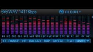 Ruído Rosa em equalizador 20 bandas gráficas (Pink Noise 20-band graphic equalizer)