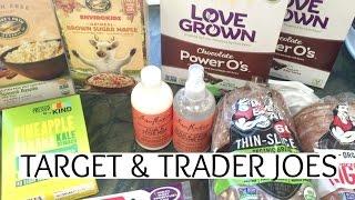 Trader Joes & Target Healthy Grocery Haul | Summer Saldana