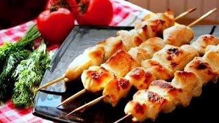 Куриные шашлычки в духовке и картофель с беконом