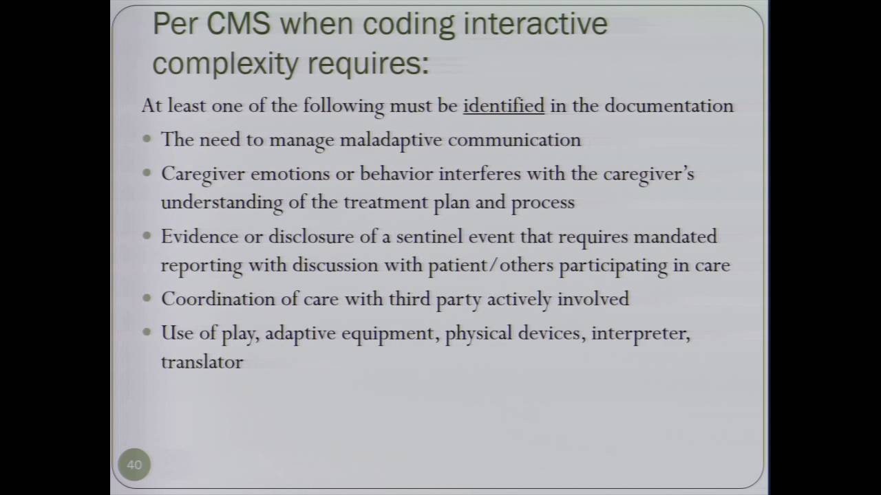 Coding And Documentation For Behavioral Health Providers Part 2