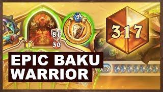 Epic Baku Warrior Grind To Top Legend | Rastakhan's Rumble | Hearthstone