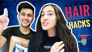 INDIAN HAIR MASK CHALLENGE 😍+ Home Remedies |ft Mansi❤️| Rishabh Chawla