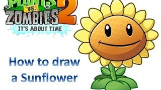 How To Draw A Sunflower - Plants Vs Zombies 2: It