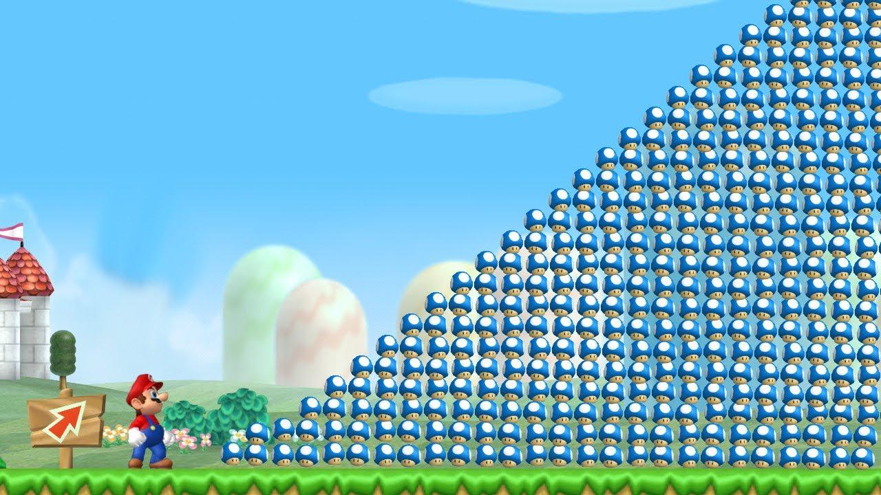 Can Mario Collect 999 Mini Mushrooms in New Super Mario Bros. Wii ?