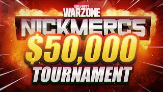 🔴 $50,000 NICKMERCS WARZONE TOURNAMENT (MFAM JUNE GAUNTLET)