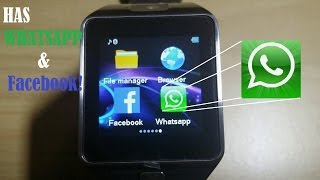 New DZ09 SmartWatch: Whatsapp & Facebook